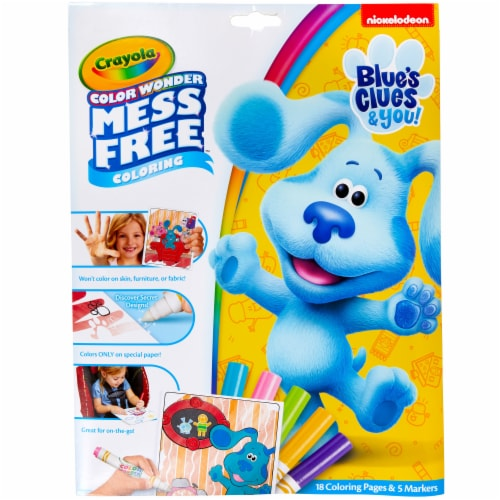 Crayola Blue's Clues Color Wonder Mess Free Activity Pad Perspective: front