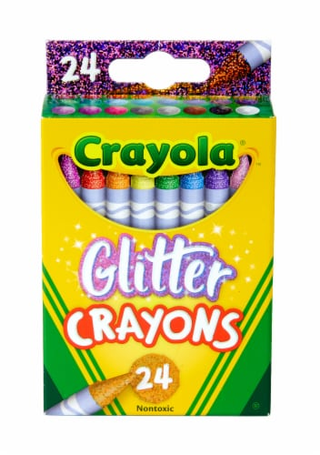 Crayola Glitter Crayons Perspective: front