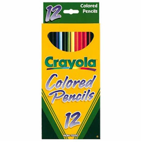 Crayola Llc Formerly Binney & Smith Bin4012 Crayola Colored Pencils 12 Color Perspective: front