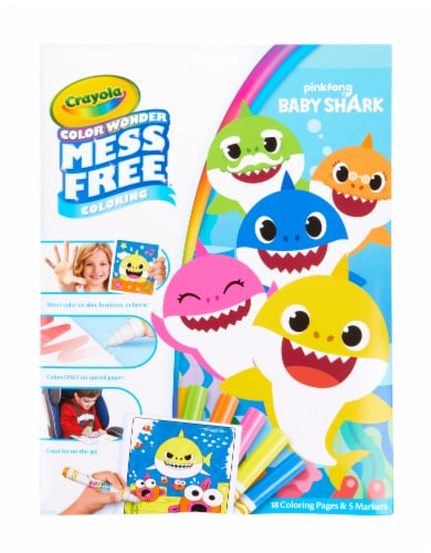 Crayola Color Wonder Pinkfong Baby Shark Coloring Set Perspective: front