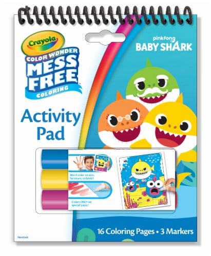 Crayola Color Wonder Mess Free Coloring Baby Shark Activity Pad Perspective: front