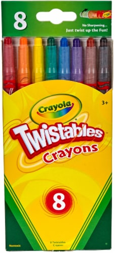 Crayola Twistable Crayons, Traditional Colors, 8/Pack 527408 Perspective: front