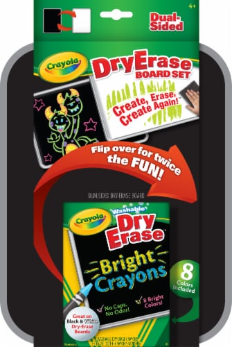 Crayola Dual-Sided Dry Erase Marker & Board Set Perspective: front
