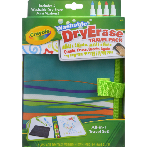 Crayola All-in-One Portable Dry Erase Travel Pack Perspective: front