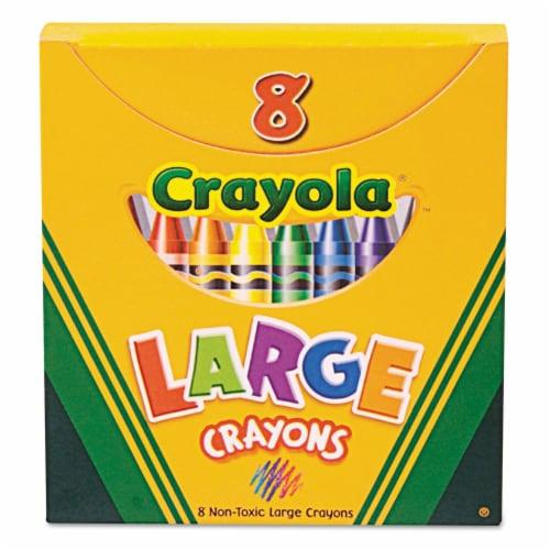 Crayola Llc Formerly Binney & Smith Bin80 Crayola Large Size Tuck Box 8-Pk. Perspective: front
