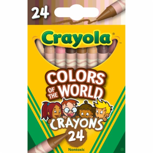 Crayola Colors of the World Crayons Perspective: front