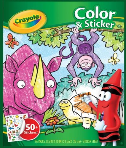 Crayola® Animals Color & Sticker Book Perspective: front
