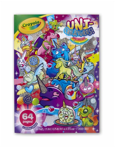 Crayola Uni-Creatures Coloring Book Perspective: front