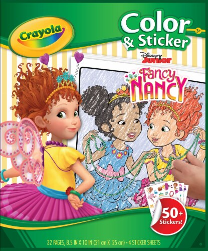 Crayola Fancy Nancy Color & Sticker Book Perspective: front