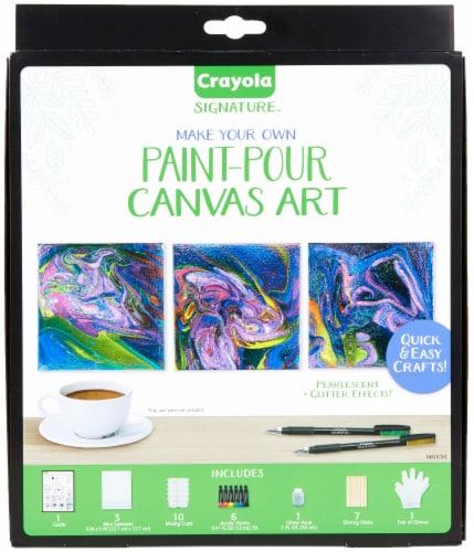 Crayola Signature™ Make Your Own Paint Pour Canvas Art Perspective: front