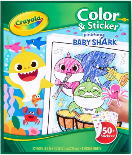 Crayola Pinkfong Baby Shark Color & Sticker Book Perspective: front