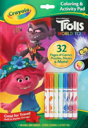 Crayola Trolls World Tour Coloring & Activity Pad Perspective: front