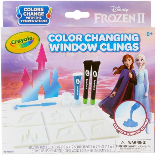Crayola® Frozen 2 Color Changing Window Clings Perspective: front