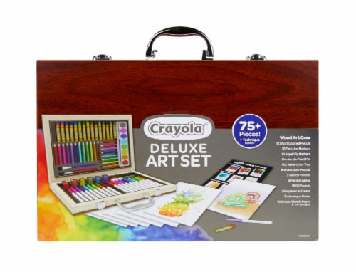 Crayola Deluxe Art Set with Wood Case Perspective: front