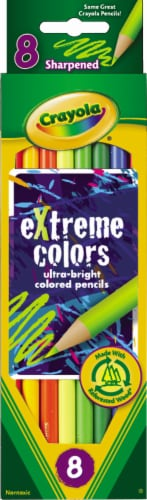 Crayola Extreme Colors Sharpened Colored Pencils Perspective: front