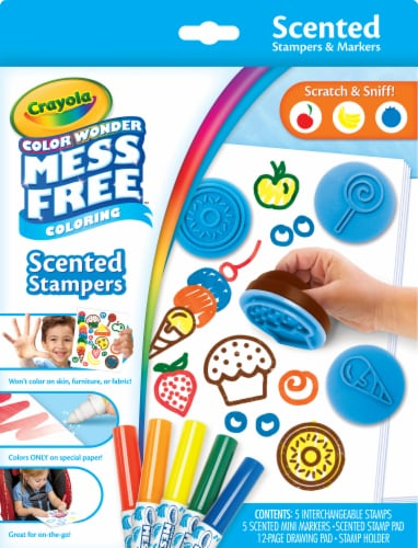Crayola Color Wonder Scented Stamps & Markers Set Perspective: front