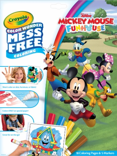 Crayola Color Wonder Mickey & The Roadster Racers Coloring Book & Markers Perspective: front