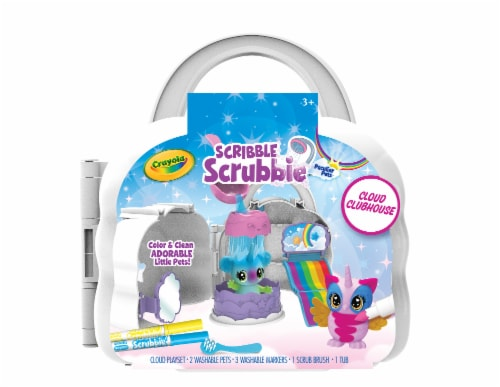 Crayola Scribble Scrubbie Cloud Clubhouse Playset Perspective: front