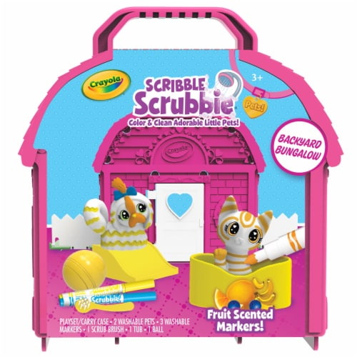 Crayola Scribble Scrubbie Pets Backyard Bungalow Set Perspective: front