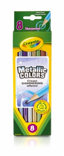 Crayola Metallic Sharpened Colored Pencils - 8 Count Perspective: front