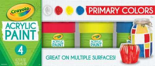 Crayola Primary Colors Acrylic Paint Kit Perspective: front