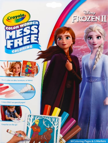 Crayola Frozen Northern Lights Coloring Set Perspective: front