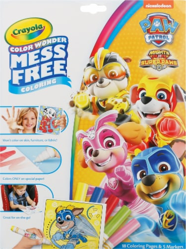 Crayola Color Wonder Mess Free Paw Patrol Coloring Pages & Markers Perspective: front