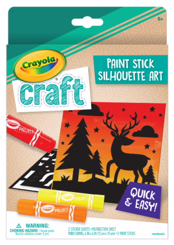 Crayola Craft Paint Stick Silhouette Art Set Perspective: front