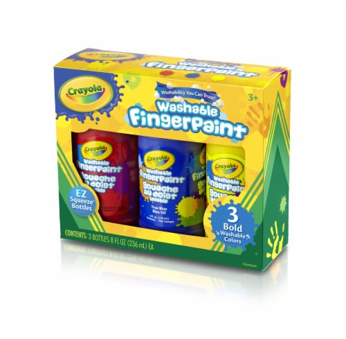 Crayola Primary Colors Washable Finger Paint - 3 Piece Perspective: front