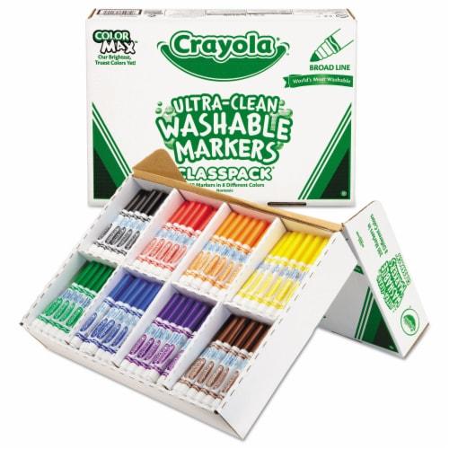 Crayola Llc Formerly Binney & Smith BIN588200 Crayola Washable Markers Classpack Perspective: front
