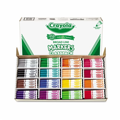 CRAYOLA LLC FORMERLY BINNEY & SMITH BIN8201 CLASSPACK MARKER 16 COLORS 256 CT Perspective: front