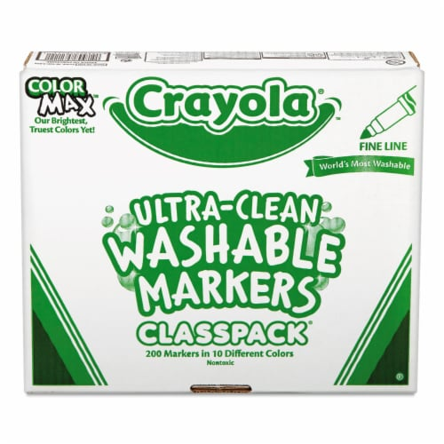 Crayola Marker,Wshable,200bx,Fine 588211 Perspective: front