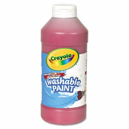 Washable Paint, Red, 16 oz. Perspective: front