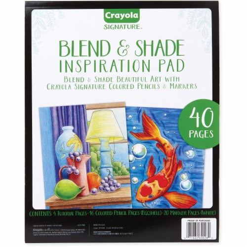 Crayola Blend & Shade Inspiration Pad - 40 Pages - 1Each Perspective: front
