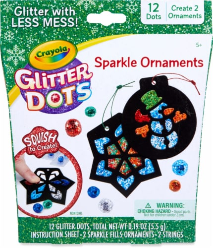 Crayola Glitter Dots Sparkle Ornaments Set Perspective: front