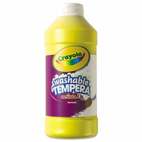 Artista II® Washable Liquid Tempera Paint, Yellow, 16 oz. Perspective: front