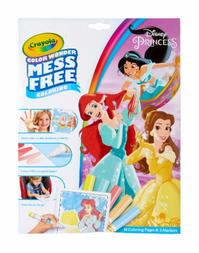 Crayola Color Wonder Disney Princess Coloring Pages & Markers Perspective: front