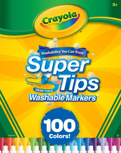 Crayola Supertips Washable Markers Perspective: front