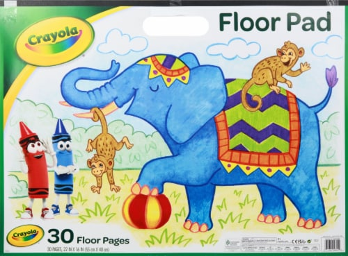 Crayola Giant 30-Page Coloring Pad Perspective: front