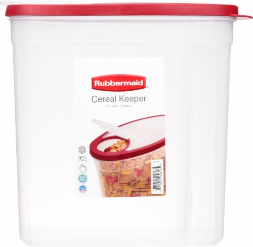 Rubbermaid Cereal Keeper Storage Container - Clear/Red Perspective: front