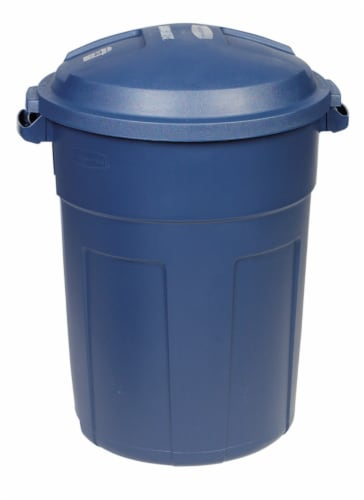 Rubbermaid Roughneck 32 gal. Plastic Garbage Can Lid Included - Case Of: 8 Perspective: front