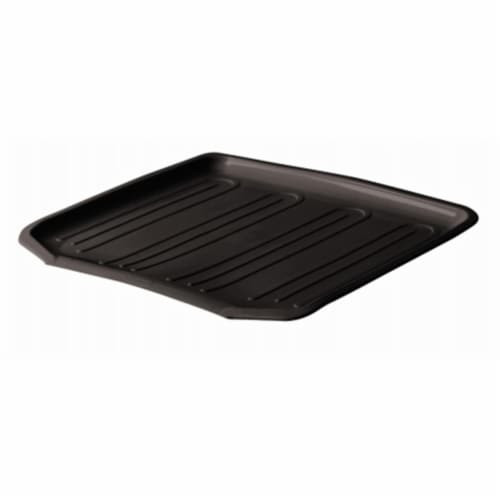 Rubbermaid Large Black Drain-Away Tray Perspective: front