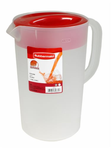 Rubbermaid Classic Pitcher - Clear/Red Perspective: front