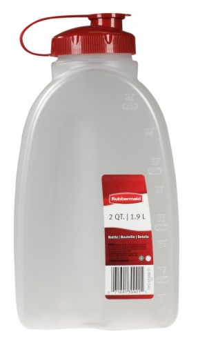 Rubbermaid MixerMate Bottle - Clear/Red Perspective: front