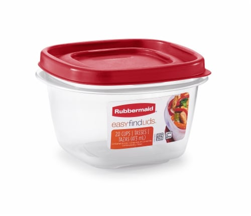 Rubbermaid Easy-Find Lids Two-Cup Food Storage Container Perspective: front