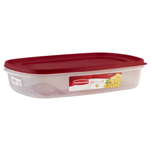 Rubbermaid Easy-Find Lids Food Storage Container - Red/Clear Perspective: front