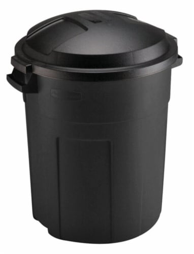 Rubbermaid Roughneck 20 gal. Plastic Garbage Can Lid Included - Case Of: 6; Perspective: front