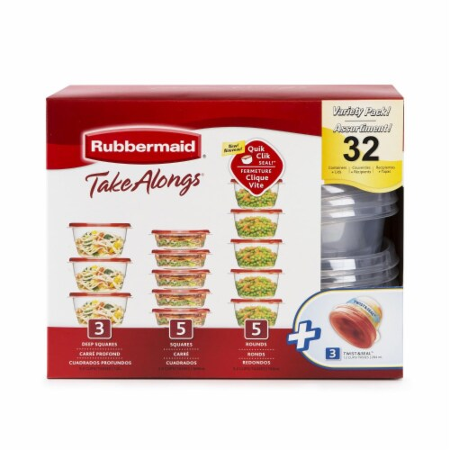 Rubbermaid Take Alongs Food Storage Container Variety Pack Perspective: front