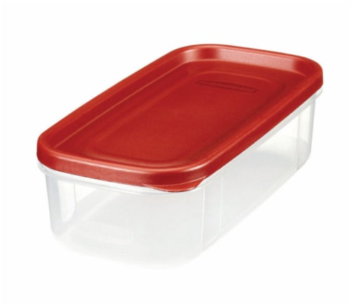 Rubbermaid Dry Food Container - Red/Clear Perspective: front