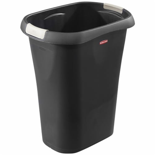 Rubbermaid 8 Gallon Plastic Home/Office Wastebasket Trash Can with Liner Lock Perspective: front